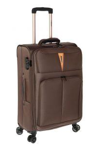 Βαλίτσα Μεσαία με 4 Ρόδες και Επέκταση Diplomat ZC 6101-M Καφέ