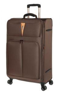 Βαλίτσα Μεγάλη με 4 Ρόδες και Επέκταση Diplomat ZC 6101-L Καφέ