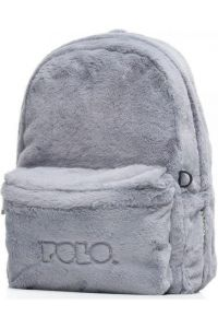Σακίδιο Πλάτης POLO Mini FUR Limited Edition 9-07-168-09 Γκρι
