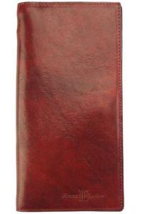Δερμάτινο Πορτοφόλι Bernardo V Firenze Leather 5531 Κόκκινο