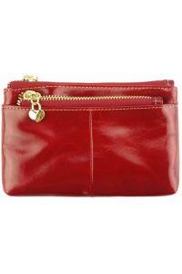 Δερμάτινο Πορτοφολάκι Sarah Firenze Leather PO8190 Κόκκινο