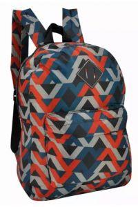 Τσάντα Πλάτης Πολυεστέρα Geometric 30x15x39cm Πολύχρωμο