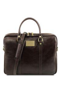 """Γυναικεία Τσάντα Laptop 15.6"""" Δερμάτινη Prato TL141283 Καφέ σκούρο Tuscany Leather"""
