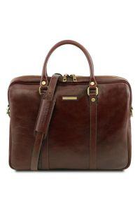 """Γυναικεία Τσάντα Laptop 15.6"""" Δερμάτινη Prato TL141283 Καφέ Tuscany Leather"""