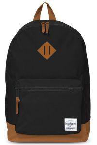 Τσάντα δημοτικού μαύρη με 2 θήκες 43x3 2.5x1 3.3 εκ. Unkeeper 28761