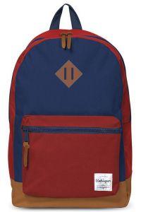Τσάντα δημοτικού μπλε-κόκκινη με 2 θήκες 43x3 2.5x1 3.3 εκ. Unkeeper 28762