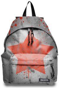 Τσάντα δημοτικού γκρι αστέρι με 2 θήκες 43x3 2.5x1 3.3 εκ. Unkeeper 28766