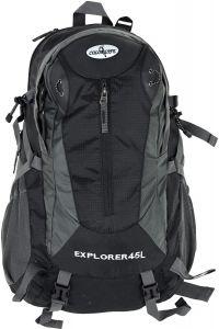 Ορειβατικό Σακίδιο 45lt Net Adventure Colorlife 815 Μαύρο