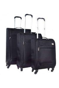 Σετ Βαλίτσες 50-60-70 εκ. με 4 ροδάκια Traveland V233 Μαύρο