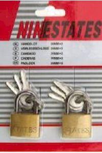 Σετ Λουκέτα 2τεμ. 20mm Ninestates M143