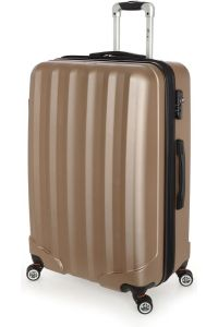 Βαλίτσα Μεγάλη Σκληρή 4 Ρόδες 70 εκ Stelxis 505-70 Χρυσό