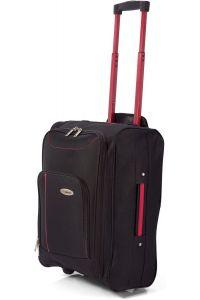 Βαλίτσα Καμπίνας Τρόλευ Αναδιπλούμενη BENZI BZ4891 Μαύρο/Κόκκινο