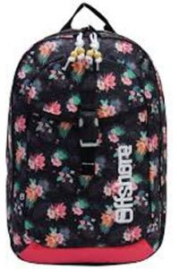 Τσάντα πλάτης δημοτικού λουλούδια μαύρη με 2 θήκες 49x33x12 εκ. Bagtrotter 30439