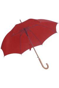 Ομπρελα Αυτόματη με Ξύλινη Λαβή 105cm Next 22223 Κόκκινο