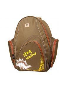 Τσάντα πλάτης draco καφέ με 2 θήκες 3 8.5x26x19 εκ. Tiger 25762-07