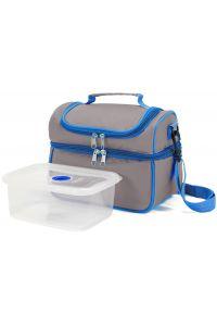 Ισοθερμική Τσάντα με Πλαστικό Δοχείο Φαγητού Benzi BZ5123 Γκρι