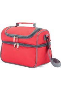 Ισοθερμική Τσάντα με Πλαστικό Δοχείο Φαγητού Benzi BZ5123 Κοκκινο