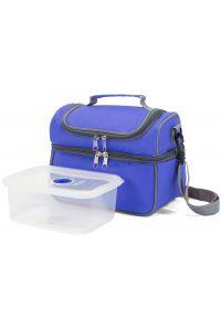 Ισοθερμική Τσάντα με Πλαστικό Δοχείο Φαγητού Benzi BZ5123 Μπλε
