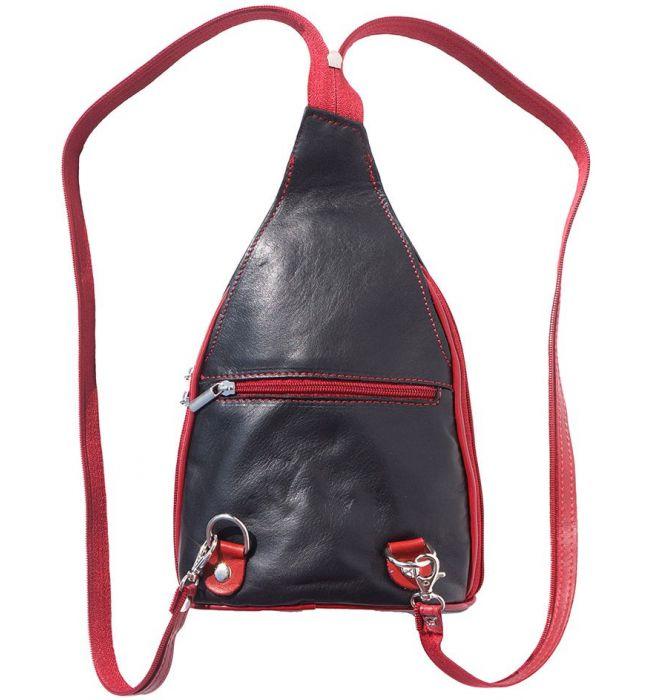 b4f4ed6c3e ... Δερμάτινη Τσάντα Πλάτης Foglia Firenze Leather 2015 Μαύρο Κόκκινο ...
