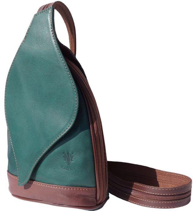 2771a3484c ... Δερμάτινη Τσάντα Πλάτης Foglia GM Firenze Leather 2060 Σκουρο  Πρασινο Καφε