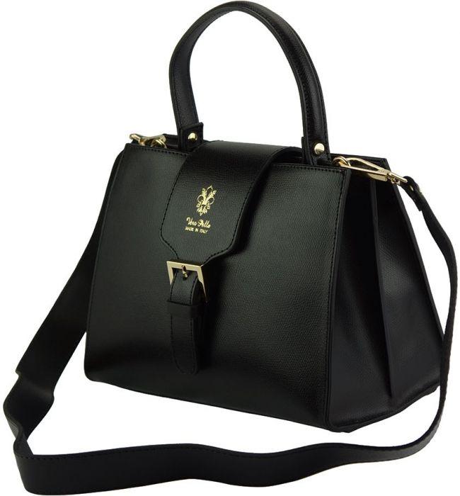 Δερμάτινη Τσάντα Χειρός Vittoria Firenze Leather 305 Μαύρο