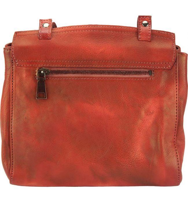 5fd6ed407cb ... Δερματινη Τσαντα Ταχυδρομου Livio Firenze Leather 68065 Κόκκινο ...