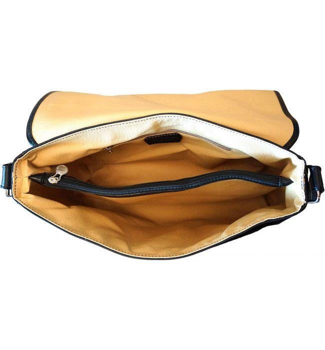 Τσάντα Ταχυδρόμου Δερματινη Firenze Leather 6555 Μαύρο
