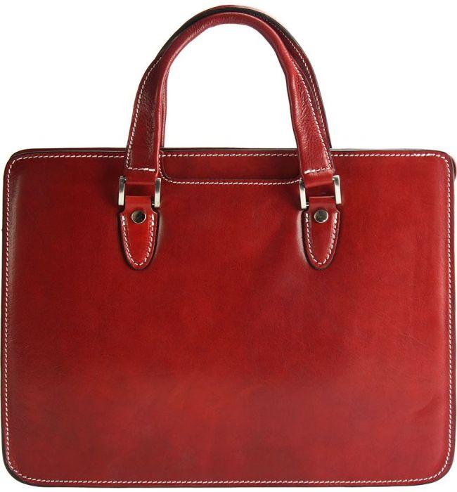 d12165e9a3 ... Γυναικειος Χαρτοφύλακας Δερμάτινος Rolando Firenze Leather 7629 Κόκκινο  ...