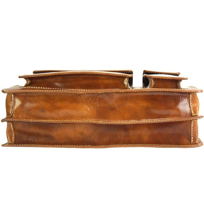 Χαρτοφυλακας Δερματινος Daniele Firenze Leather 7632 Camel