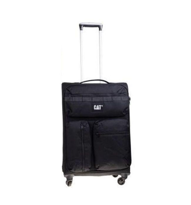 Βαλίτσα Τρόλευ 60 εκ. με 4 Ρόδες Cube-Combat-Visiflash  Caterpillar 83401 Μαύρο